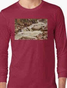 Cascading Colorado Rocky Mountain Stream Long Sleeve T-Shirt