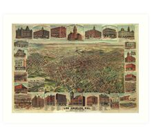 The City of Los Angeles California in 1891 Art Print