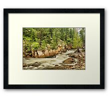 Cascading Colorado Rocky Mountain Stream Framed Print