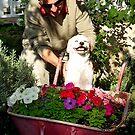 Enjoying the garden together by joycee