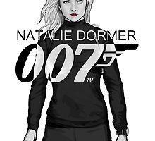 Natalie Dormer is Bond - Black and White Version by RabidDog008