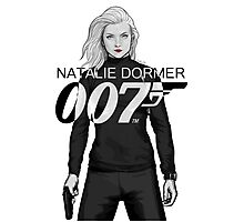 Natalie Dormer is Bond - Black and White Version Photographic Print