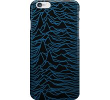 Unknown Pleasures #1 Blue Waves iPhone Case/Skin