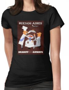 Buenos Aires Vintage Travel Poster Resored Womens Fitted T-Shirt