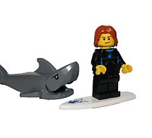 LEGO Surfer and Shark by jenni460