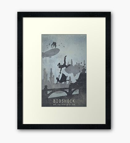 Bioshock Infinite Game Poster Framed Print