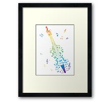 Violin with Notes 3 Framed Print