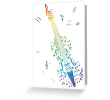 Violin with Notes 3 Greeting Card