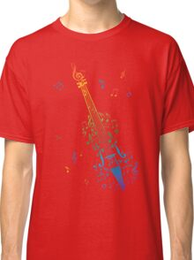 Violin with Notes 3 Classic T-Shirt
