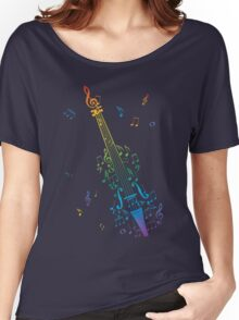 Violin with Notes 3 Women's Relaxed Fit T-Shirt