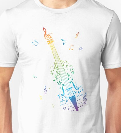 Violin with Notes 3 Unisex T-Shirt