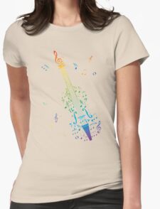 Violin with Notes 3 Womens Fitted T-Shirt