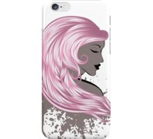 Woman with Long Hair3 iPhone Case/Skin