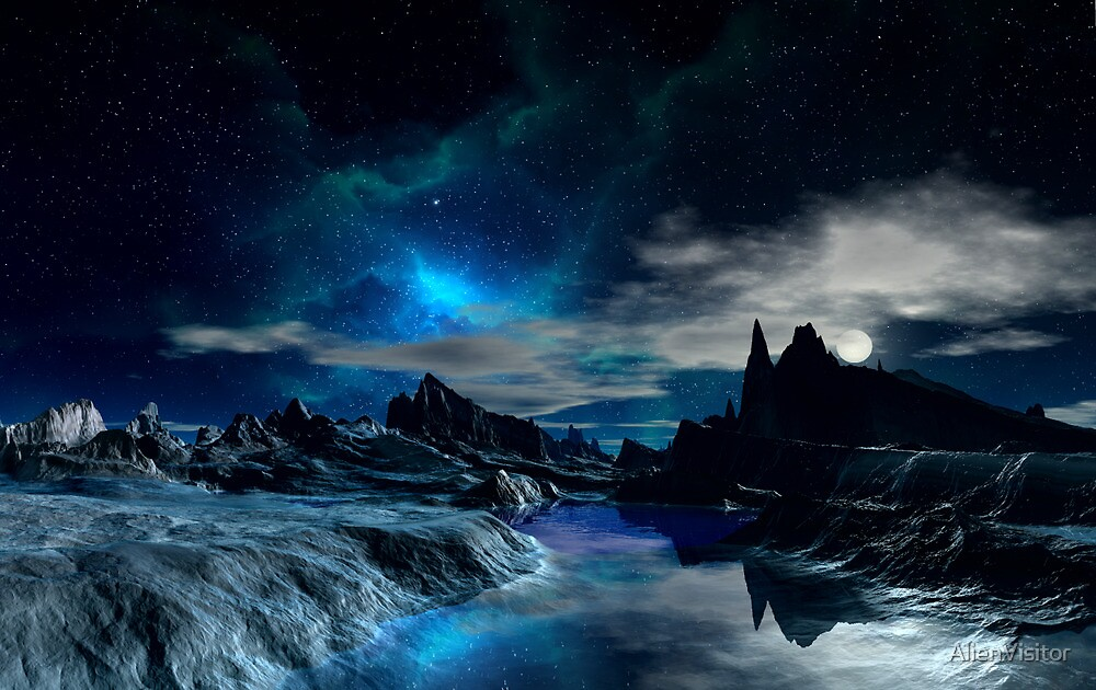 Worlds of the Blue Nebula by AlienVisitor
