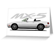 Mazda MX-5 white Greeting Card