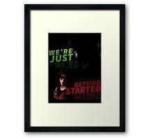 Green Arrow Framed Print