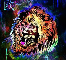 Zodiac-Lion and Chinese symbol by andy551