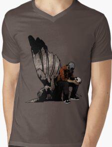 The Angel And The Skull Mens V-Neck T-Shirt
