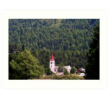 Grisons Country's Church Art Print
