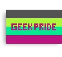 Geek Pride (Purple Font) Canvas Print