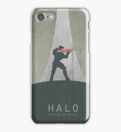 Halo Master Chief Game Poster iPhone Case/Skin