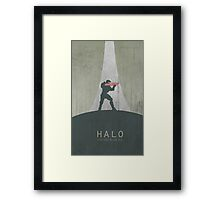 Halo Master Chief Game Poster Framed Print