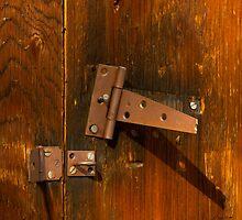 Broken Hinge    #0229 by JL Woody Wooden