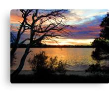 sun set at bremer bay wa Canvas Print