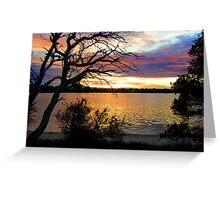 sun set at bremer bay wa Greeting Card