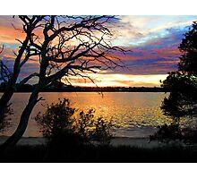 sun set at bremer bay wa Photographic Print