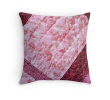 Quilted Flowers Throw Pillow