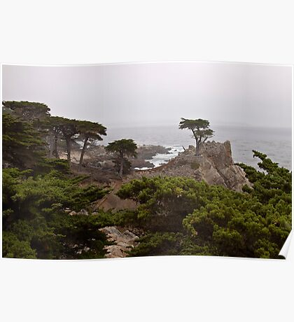 Foggy Day at Pebble Beach Poster