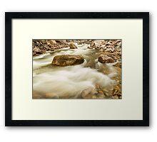 Hypnotized By A Rocky Mountain Stream Framed Print