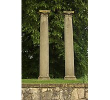 Columns at old Springfield Outdoor Concert Hall Photographic Print