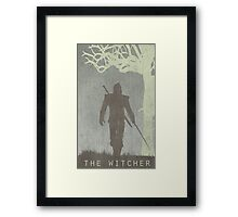 The Witcher Game Poster Framed Print