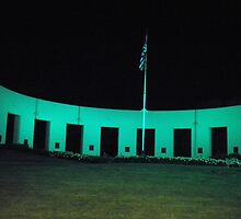 Vetrans Memorial Monument in Omaha Nebraska at Night by wigget