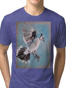 """Blue Jay"" Tri-blend T-Shirt"