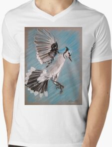 """Blue Jay"" Mens V-Neck T-Shirt"