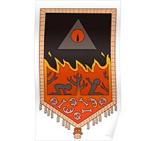 Bill Cipher Tapestry  Poster