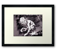 A gremlin called Gollum Framed Print