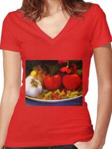 Still Life Italia Women's Fitted V-Neck T-Shirt