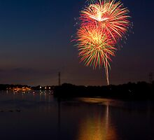 Memorial Day Fireworks 2010 1 by Tim Ray