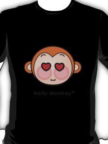 Hello Monkey heart eyes T-shirts T-Shirt