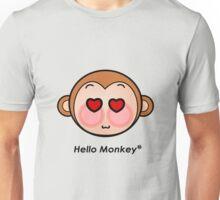 Hello Monkey heart eyes T-shirts Unisex T-Shirt