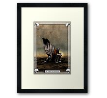 The Angel And The Skull Framed Print
