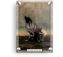 The Angel And The Skull Metal Print