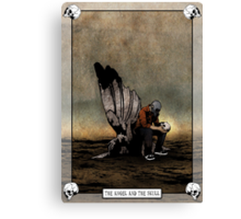 The Angel And The Skull Canvas Print