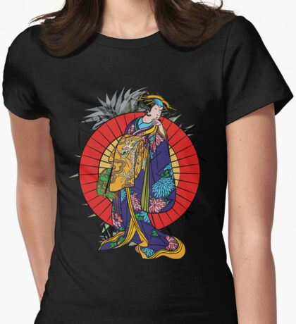 Japanese girl Womens Fitted T-Shirt
