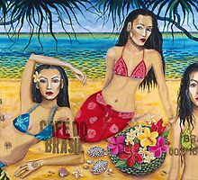 Island Girls with Cowrie shells by Sarina Tomchin