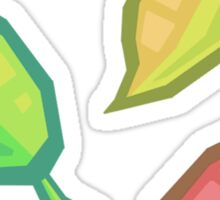 Colorful Leaves Sticker